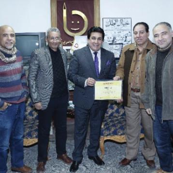 الجمعية المصرية تحتفي برسام الكاريكاتير عاصم جهاد