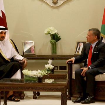 امير قطر يختتم زيارته الرسمية إلى الأردن ويبدأ زيارة للجزائر