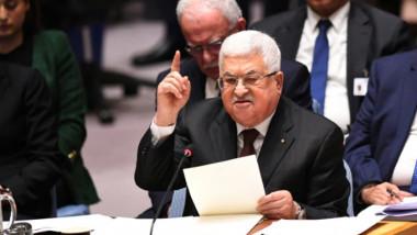 عباس يؤكد رفض خطة السلام الأميركية أمام مجلس الأمن والتمسك بالمقاومة السلمية