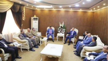 وزير الشباب والرياضة يلتقي وفد نادي الشرطة