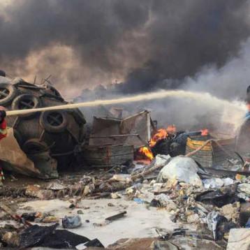 اصابات لا تحصى في انفجار ضخم يهز بيروت وسمعه اشخاص في قبرص