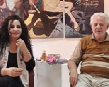 """ثورة العشرين"""" سرق اجزاء منها المخربون واعادها الفنان ناجي حسين"""""""